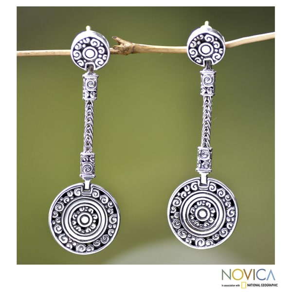Sterling Silver 'Wealth of Fortune' Earrings (Indonesia)