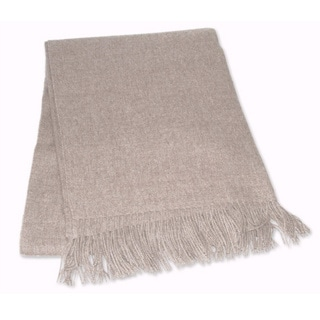 Alpaca 'Cozy Light Brown' Throw (Peru)