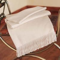 Handmade Alpaca Cozy Beige Cotton Throw (Peru)
