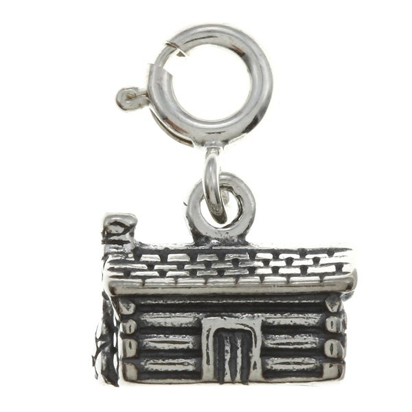 Sterling Silver Log Cabin Charm. Opens flyout.