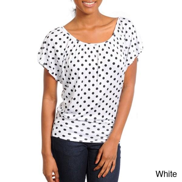 Stanzino Women's Scoop-neck Polka-dot Top