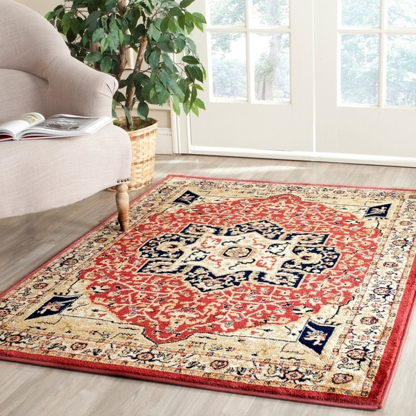 Safavieh Heriz Red/ Cream Rug