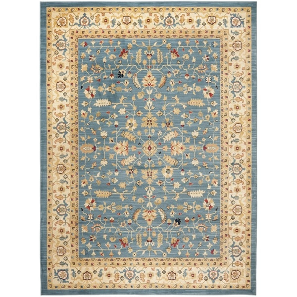 Shop Safavieh Farahan Light Blue Cream Rug Free