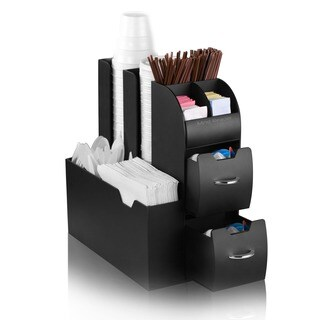 Mind Reader Black Coffee Condiment Organizer Caddy