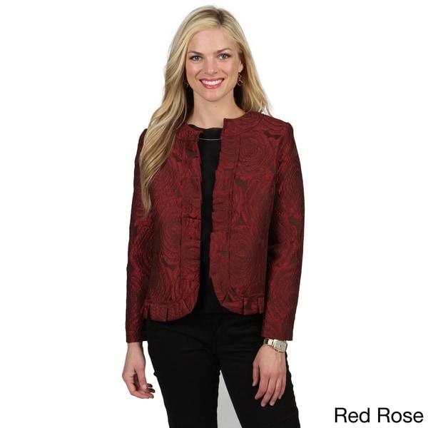 Celebrating Grace Women's 'Katherine' Ruffled Hemline Jacket