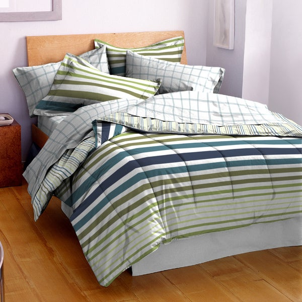 Hanes Cabana Cool Striped 3-piece Comforter Set