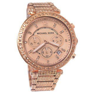 Michael Kors Women's MK5663 Chronograph Parker Stainless Steel Watch