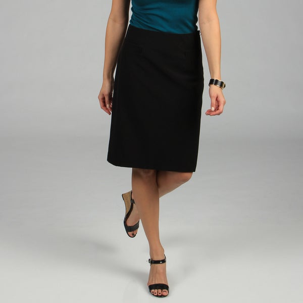 Women's Black Perfectly Polished Pencil Skirt