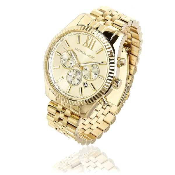 Michael Kors Men's 'Lexington' Goldtone Stainless Steel Watch