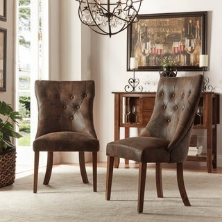 Atelier Traditional French Burnished Brown Oak Dining Chair (Set of 2) by iNSPIRE Q Classic