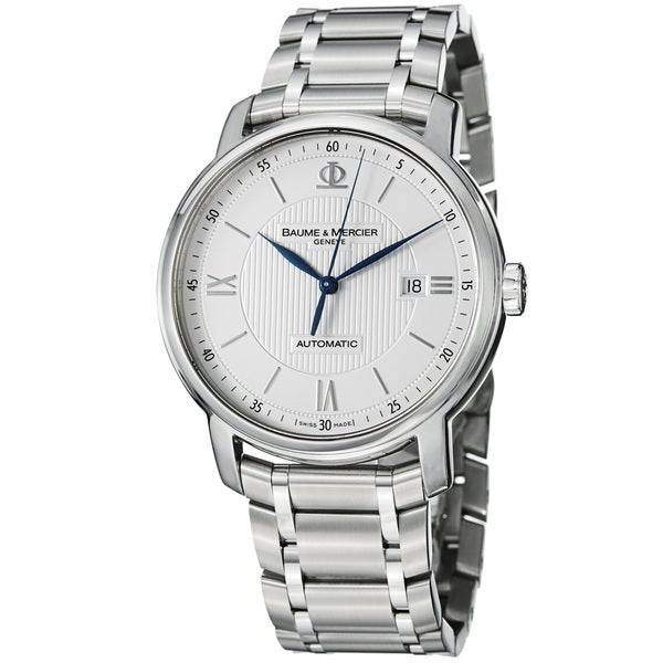 Baume & Mercier Men's 'Classima' Silver Dial Stainless Steel Watch