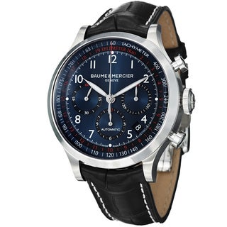 Baume & Mercier Men's 'Capeland' Blue Dial Chronograph Strap Watch