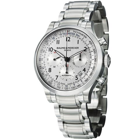 Baume & Mercier Men's MOA10064 'Capeland' Chronograph Automatic Stainless Steel Watch