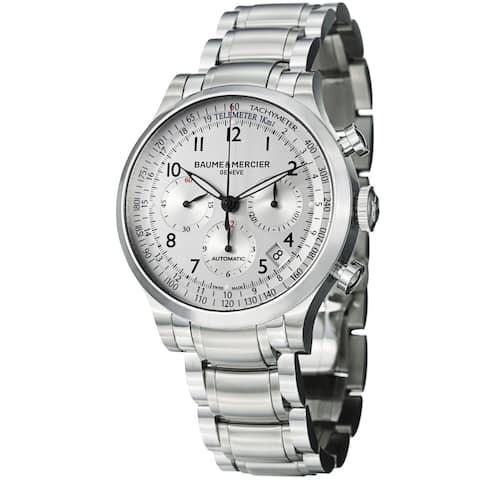 Baume & Mercier Men's 'Capeland' Silver Dial Chronograph Watch