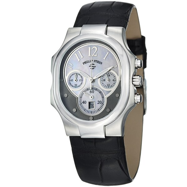 Philip Stein Women's 22-FGR-AB 'Signature' Black Leather Strap Quartz Watch