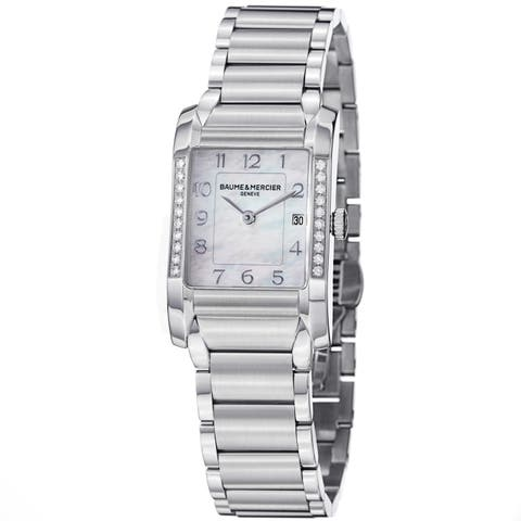 Baume & Mercier Women's 'Hampton' Diamond Stainless Steel Watch