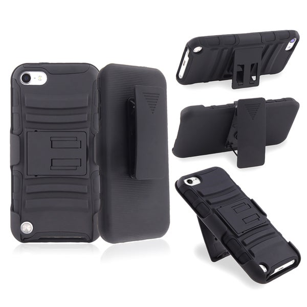 BasAcc Black Hybrid Case with Stand for Apple iPod Touch Generation 5