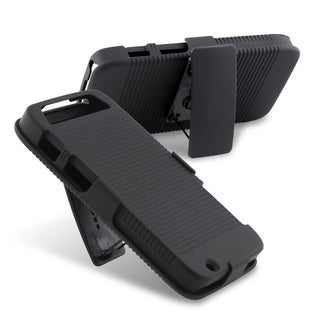 INSTEN Black Phone Case Cover/ Holster/ Stand for Motorola Atrix HD MB886