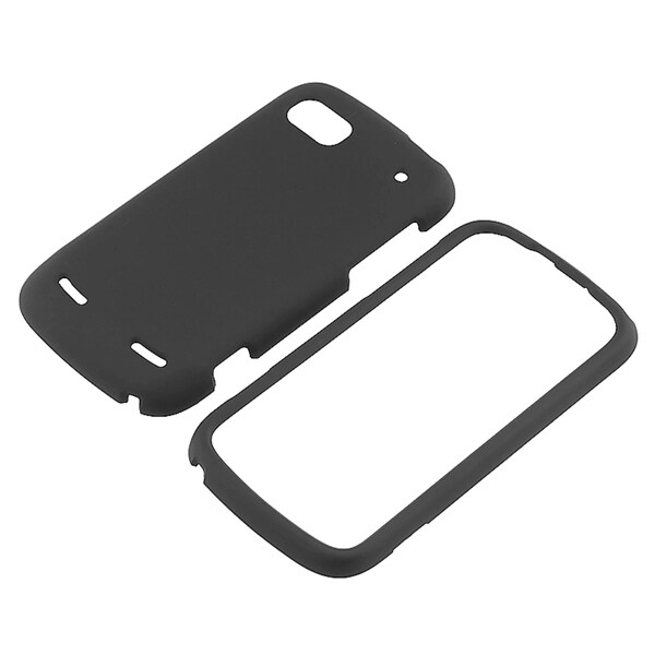 BasAcc Black Snap-on Rubber Coated Case for ZTE N861 Warp Sequent