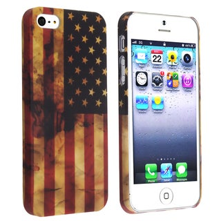 BasAcc US Flag Snap-on Case for Apple iPhone 5