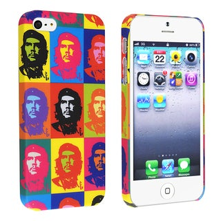 BasAcc Colorful Head Portrait Rubber Coated Case for Apple iPhone 5