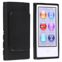 INSTEN Black TPU iPod Case Cover with Belt Clip for Apple iPod nano Generation 7