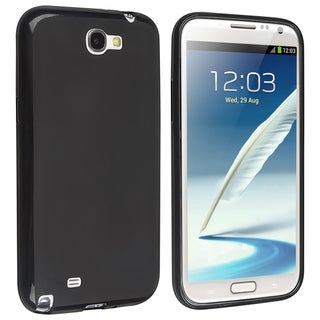 INSTEN Black Pudding TPU Rubber Case Cover for Samsung Galaxy Note 2 N7100
