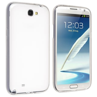 BasAcc Clear Pudding TPU Rubber Case for Samsung© Galaxy Note 2 N7100