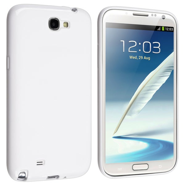 BasAcc White Pudding TPU Rubber Case for Samsung© Galaxy Note 2 N7100