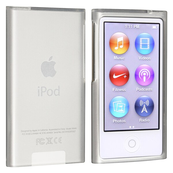 INSTEN White TPU Rubber iPod Case Cover for Apple iPod nano Generation 7