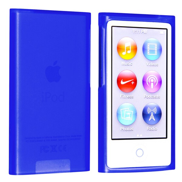 BasAcc Dark Blue TPU Rubber Case for Apple iPod nano Generation 7