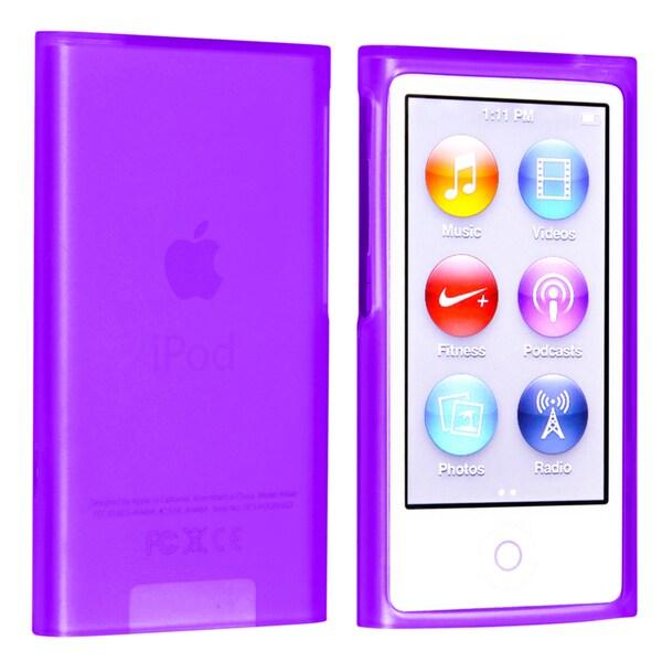 BasAcc Purple TPU Rubber Case for Apple® iPod nano Generation 7