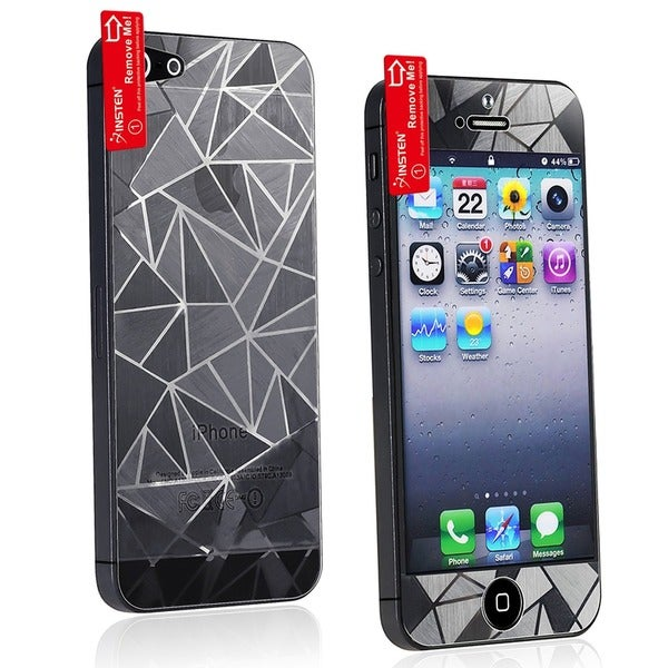 INSTEN 3D Diamond Front/ Back Screen Protector for Apple iPhone 5