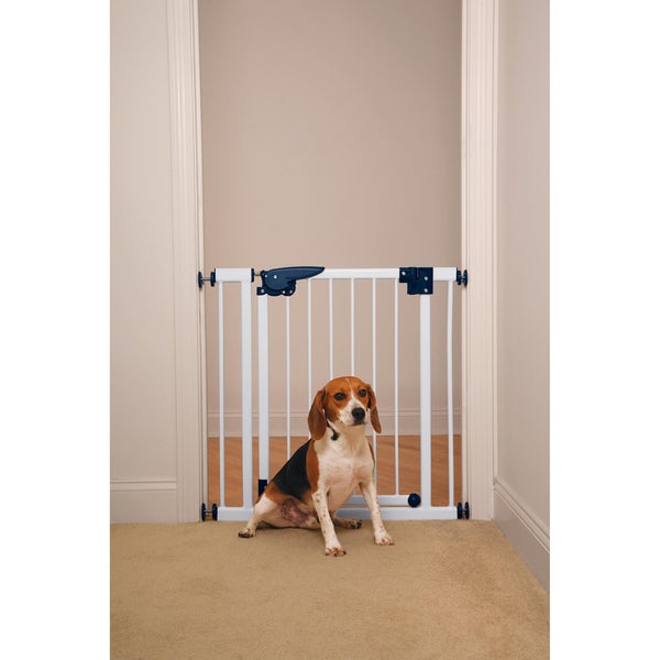 Pet Studio Pressure Mounted White Gate
