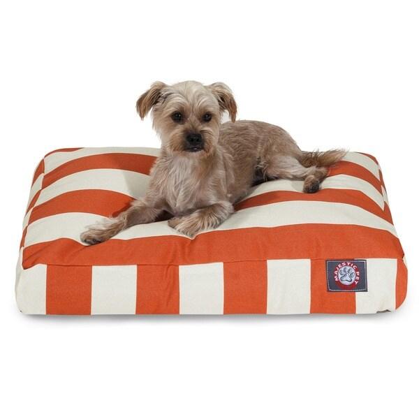 Majestic Pet Burnt Orange Vertical Stripe Rectangle Pet Bed