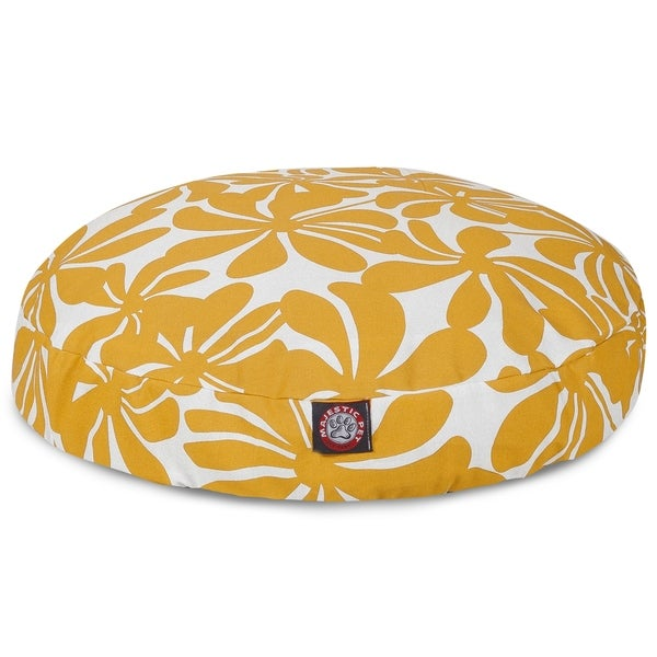 Majestic Pet Yellow Plantation Round Pet Bed. Opens flyout.