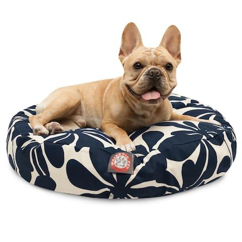 Majestic Pet Navy Blue Plantation Round Pet Bed