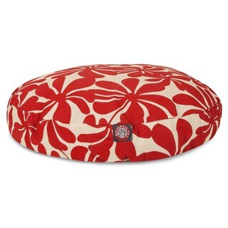 Majestic Pet Red Plantation Round Pet Bed
