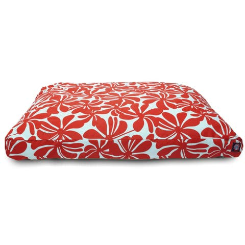 Majestic Pet Red Plantation Rectangle Pet Bed