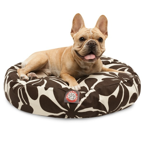 Majestic Pet Chocolate Plantation Round Pet Bed