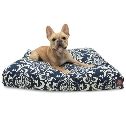 Majestic Pet Navy Blue Rectangle Pet Bed
