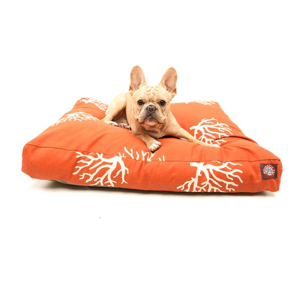 Majestic Pet Orange/ Coral Rectangle Pet Bed