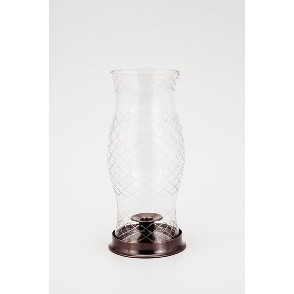 Lexington Cut Glass Hurricane Lamp
