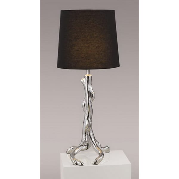 Shop Gallery Modern Chrome Branches Black Shade Table Lamp