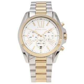 856e45347db4 Michael Kors Women s MK5627 Two-tone Steel  Bradshaw  Chronograph Watch -  GOLD