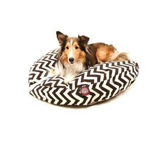 Majestic Pet Chocolate Zig-zag Round Pet Bed