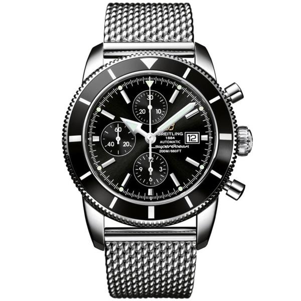 Breitling Men's Steel 'Superocean Heritage' Automatic Chronograph Watch