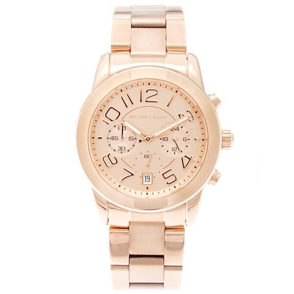 Michael Kors Women's MK5727 'Mercer' Rose Gold-Tone Watch