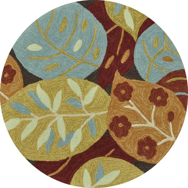 Hand-hooked Fandango Brown Rug (3' x 3')