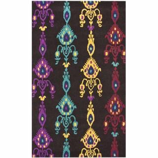 nuLOOM Handmade Ikat Multi Wool Rug